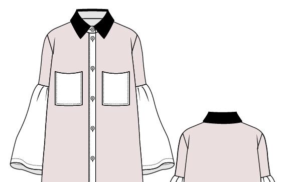 Fashion Flats Shirt Dress