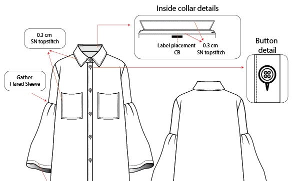 Apparel Tech Packs Spec Sheets Measurement Chart